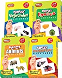 #4: Krazy Combo Mini Flash Cards Set Of 4(Fruits,Animals,Vegetables,Transport)
