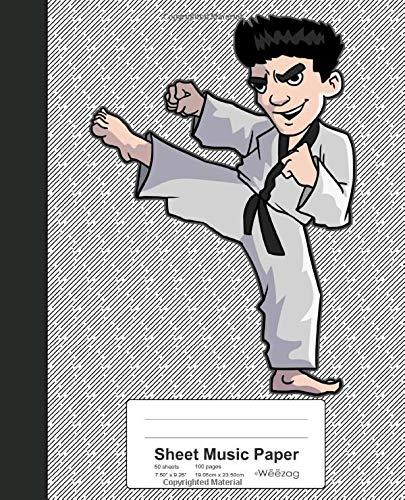 artial Arts Karate Boy Book (Weezag Sheet Music Paper Notebook, Band 114) ()