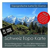 Schweiz Garmin Karte Topo 4 GB microSD. Topografische GPS Freizeitkarte für Fahrrad Wandern Touren Trekking Geocaching & Outdoor. Navigationsgeräte, PC & MAC