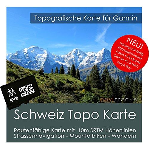 Schweiz Garmin Karte Topo 4 GB microSD. Topografische GPS Freizeitkarte für Fahrrad Wandern Touren Trekking Geocaching & Outdoor. Navigationsgeräte, PC & MAC Garmin Streetpilot C580