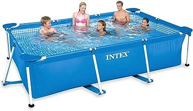 Jilani Intex Swimming Pool Rectangular Frame, Blue 3.0m X 2.0m X 0.75m