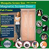 Mosquito Door Net/mosquito Door Net With Magnet / Curtain/ Door Curtain-mosquito Door Net With Frame/Magnetic Screen Door Full Frame Mesh Curtain With Hook And Loop Fastener Tape With Highest Weight In Quality On Amazon By Shuban (100 Cm W X 210 Cm H) (Pa