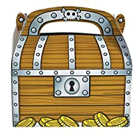 Rhode Island Novelty Treasure Chest Party Treat Boxes (1 Dozen)