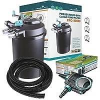 Kits avec filtre pressurisé pour bassins à koïs et stérilisateur UV – Tout en un – Pour étangs jusqu'à 50000L (PFC-30000-KIT)