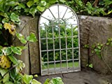 Large Decorative Gothic Arched Door Metal Framed Garden Wall Mirror Arch 60cm