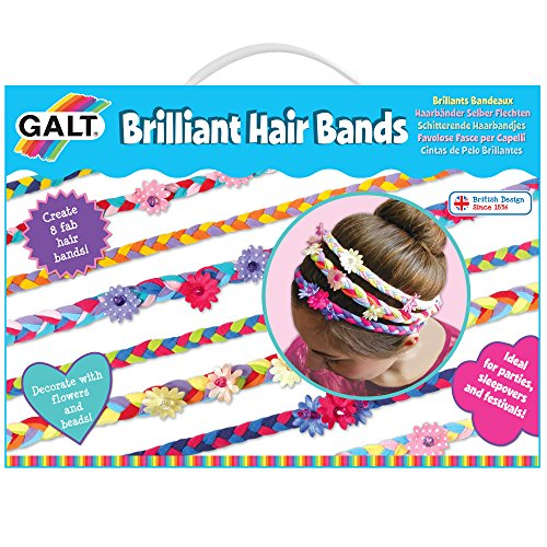 Galt 1004309 - Haarbänder selber flechten, Kinder-Bastelset