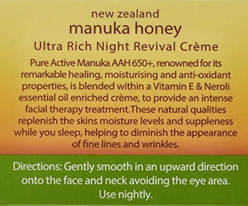 Wild Fern Manuka Honey Night Revival Cream 100ml