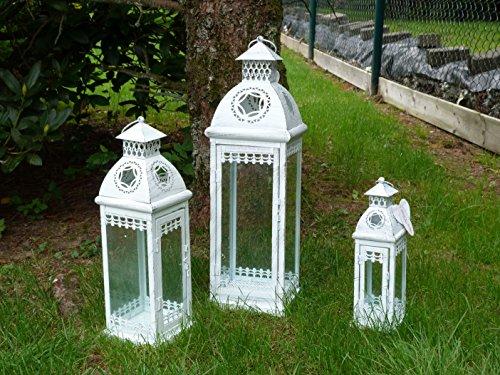 Portacandele Da Giardino : Lanterna stile shabby chic in legno portacandele portacandela