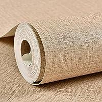 Color de pigmento puro lino patrón imitación de paja papel tapiz tienda oficina casa de té hotel ingeniería chino papel pintado gris, caqui 9.5 * 0.53m