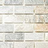 Mosaik Fliese Quarzit Naturstein Quarzit Beige Grau Für BODEN WAND BAD WC  DUSCHE KÜCHE FLIESENSPIEGEL THEKENVERKLEIDUNG
