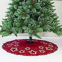aytai piel sintética de lujo árbol de navidad falda 48 pulgadas