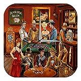 Reloj De Pared Western Cowboy Indio berlina ruleta poker Plexiglas