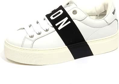 DSQUARED2 F9836 Sneaker Donna off White/Black Icon Scarpe Shoe Woman