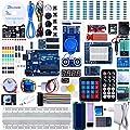 ELEGOO UNO R3 Ultimate Starter Kit für Arduino Vollständigster Elektronik Projekt Baukasten mit Deutsch Tutorial, UNO R3 Mikrocontroller Board und viele Zubehöre Sortimentskasten (mehr als 200 Teilen)
