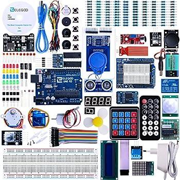 Set / Kit für Arduino - Elegoo UNO Projekt Das Vollständige Ultimate Starter Kit mit Deutsch Tutorial, Uno R3 Mikrocontroller und viel Zubehör für Arduino UNO R3