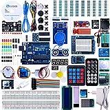 ELEGOO UNO R3 Ultimate Starter Kit Kompatibel mit Arduino IDE Vollständigster Elektronik Projekt Baukasten mit Deutsch Tutorial, UNO R3 Mikrocontroller Board und Zubehöre (mehr als 200 Teilen)