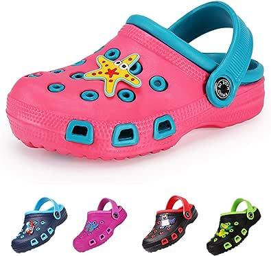 DRECAGE Kinder Clogs & Pantoffeln Unisex Hausschuhe Gartenschuhe Pantoletten Badeschuhe Gummi Gartenclogs Jungen Mädchen