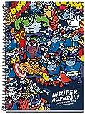 kukuxumusu 273041 super agenda scolaire de 155 x 215 mm vue hebdomadaire motif dessin anim?