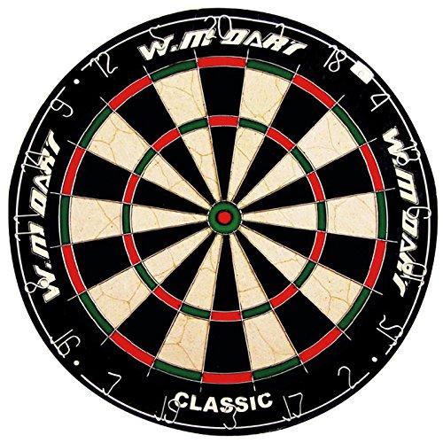 Hochwertige Dartscheibe von Winmax | Offizielles Profi- & Turniermaß | Perfekt zum Spielen von Steeldarts und Softdarts | Extra dünner Draht für weniger Abpraller (mit 6 Dartpfeilen)