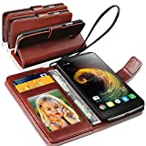 Lenovo K6 Note Rich Leather Stand Wallet Flip Case Cover Book Pouch / Quality Slip Pouch / Soft Phone Bag (Specially Manufactured - Premium Quality) Antique Leather Case Brown For Lenovo K6 Note