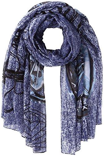 Desigual Foulard_Rectangle Adhara, Scialle Donna, Blu (Azul Ultramar 5022), Taglia Unica (Taglia Produttore: One Size)