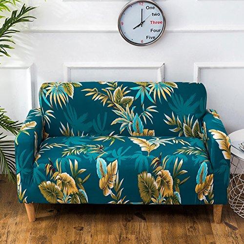 FORCHEER Sofabezug Elastischer Sesselbezüge Blumen-Muster Chair Cover Stretch Hussen für Sofa/Couch in Verschiedenen Größen (3-Sitzer, Pattern# WNS) (Stoff Drei Loveseat Sitz)