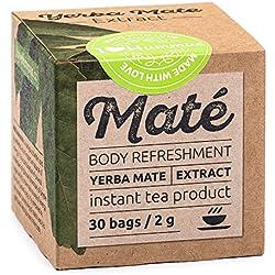 Yerba Maté Extrakt - Lösliches Erfrischungsgetränk, Grüner Tee - 30 Beutel/2g. Natürlich zuckerfreier Energy Booster. Auch super für Eistee/Mix-Drinks/Cocktails. Mit Liebe zubereitet.