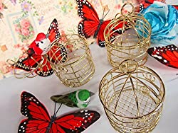 3pc Mini Bird Cage 3 Ornament (B96-Gold Only) US Seller Ship Fast