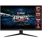 """MSI Optix G271 - Monitor Gaming de 27"""" FullHD 144Hz (1920 x 1080p, Panel IPS, ratio 16:9, AMD FreeSync, brillo 250nits, 1 ms"""