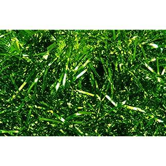 Espumillón Shred–Cesta regalo de Navidad caja para embalaje–brillante color verde (200G)