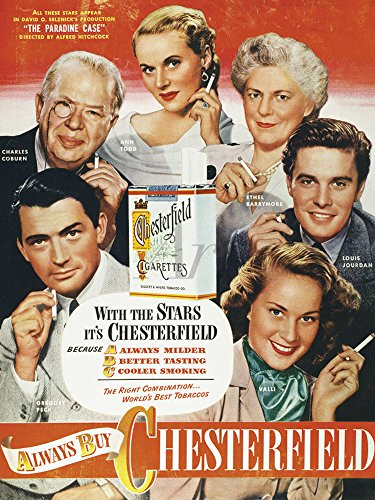 Artland Qualitätsbilder I Wandtattoo Wandsticker Wandaufkleber 30 x 40 cm Werbung Schilder Illustration Rot B9RL Chesterfield Zigarette