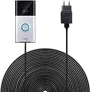 Ring-video-deurbel voeding BECEMURU Quick Charge 3.0 & acculader met 19,6 ft / 6 m weerbestendige kabel voor ring-video-deur
