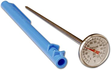 Taylor Food Service Standard Grade 1-Inch Dial Thermometer-0 to 220-Degree