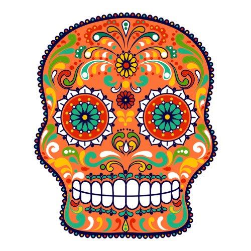 V-T-Shirt - Matey Skull 03 - Totenkopf - Sugar Skull - Damen Weiß