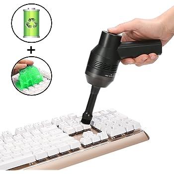 MECO Mini Aspirapolvere Ricaricabile con Gomma Pane Riutilizzabile con Batteria Li Pulitore per Tastiera Aspiratore Senza Fili Aspiratore Portatili per La Pulizia di Polvere Capelli Briciole Laptop