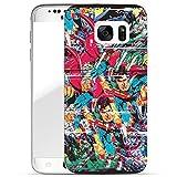 Finoo Samsung Galaxy S7 Edge Hard Case Handy-Hülle Justice League Motiv | dünne stoßfeste Schutz-Cover Tasche mit lizensiertem Muster | Premium Case für Dein Smartphone| Justice League logo black