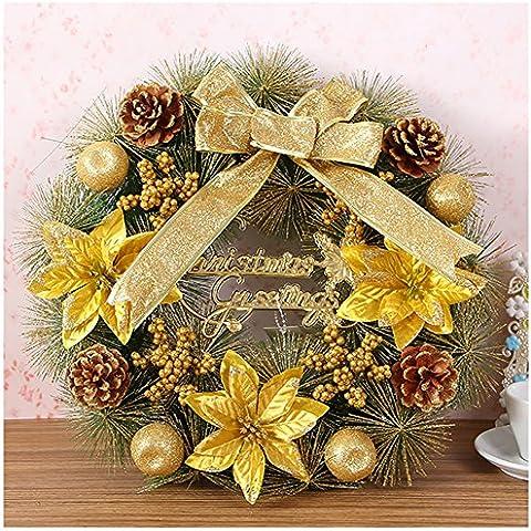 Free fisher corona de Navidad estilo oriente dorado 40cm