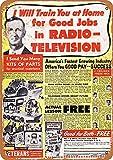Yohoba 1950 Radio-Television Pair Jobs, Vintage-Look, 20,3 x 30,5 cm