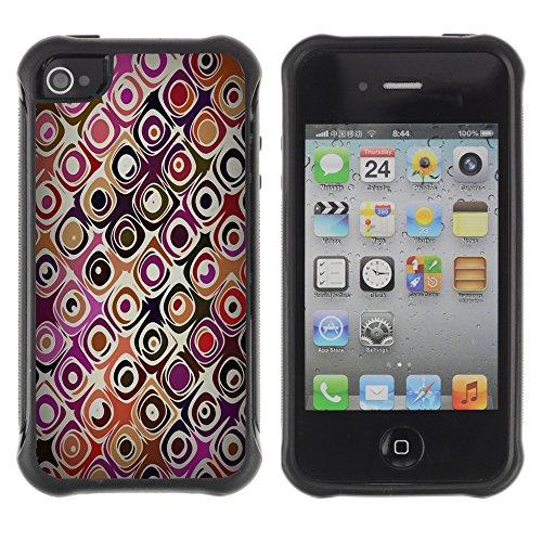 Graphic4You Blue Flowers Muster Design Harte Hülle Case Tasche Schutzhülle für Apple iPhone 4 und 4S Design #9