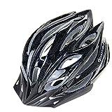 Casco ultra ligero para el ciclismo de seguridad en tamaño medio (56-64 cm), casco ligero ajustable de montaña de bicicleta para los hombres y las mujeres negro