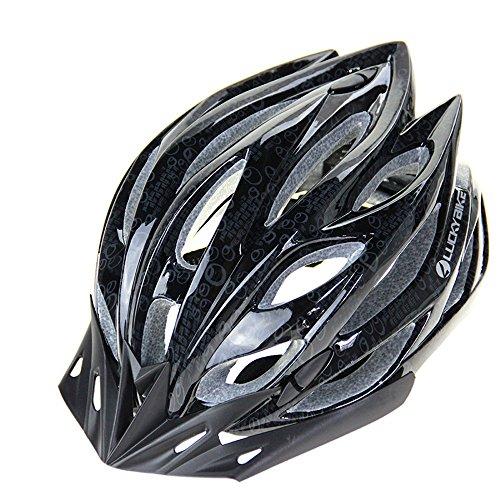 Casque ultra léger pour la sécurité de vélo en taille moyenne (56-64cm), casque de vélo de montagne modulaire réglable pour hommes et femmes noir