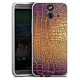 HTC One E8 Silikon Hülle Case Schutzhülle Schlangenhaut