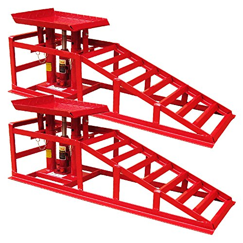 PKW Auffahrrampe Hebebühne KFZ Rampe Auffahrbock Hebeplattform Höhenverstellbar 2 T (2er Set)