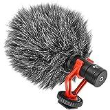 Boya by de MM1Universal Compacto supercardioide Micrófono Shotgun Juego de micrófono con Soporte widschutz para DSLR, Vídeo grafie, iPhone, Tablet