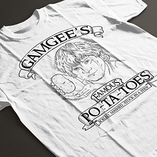 Gamgees Potatoes Lord Of The Rings Men's T-Shirt White