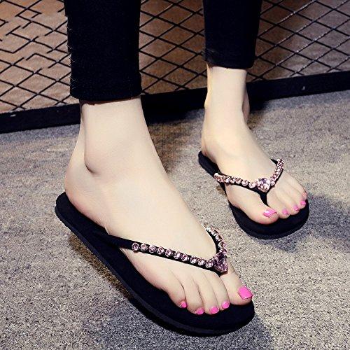Cailin Sandals, 1cm Femmes pantalons décontractés en diamant faits à la main avec 8 couleurs ( Couleur : #4 , taille : EU38/UK5.5/CN38 ) #7