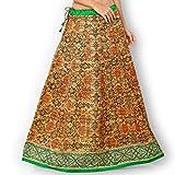 Admyrin Women Orange Banglori Silk Skirt...