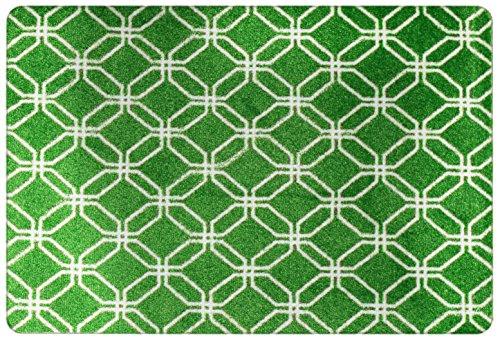 deco-mat Designer Fußmatte für Haustür, Flur, Innen, Aussen - Fußmatten Rutschfest und waschbar - GRÜN 75 x 120 cm