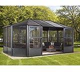 Sojag Aluminium Pavillon, Gartenlaube & Wintergarten Charleston//384x594x281 cm (LxBxH)//Sommer und Winter Solarium