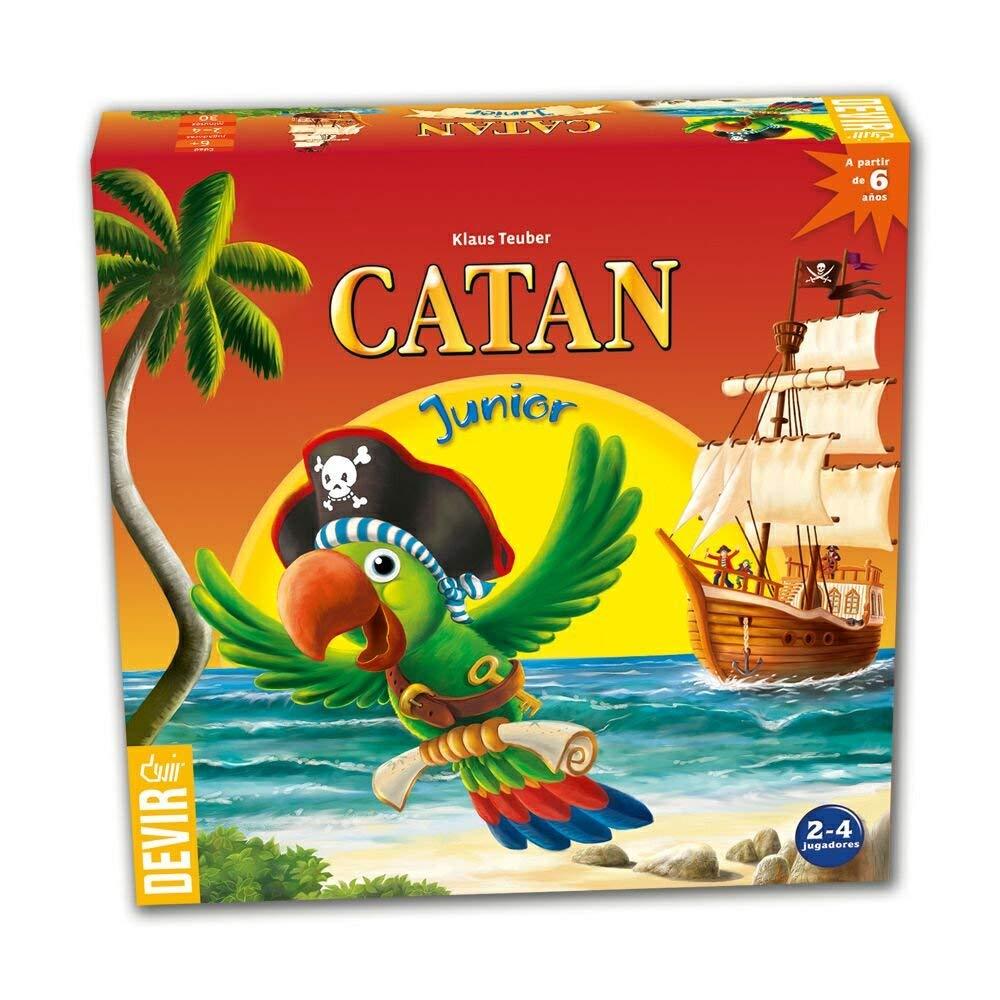 Devir- Catan Junior, Juego de Mesa, en Castellano, catalán y portugués (BGCATJU)